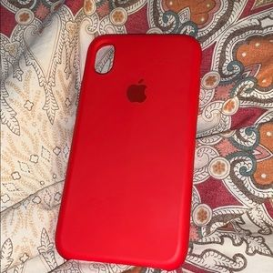 red iphone xr silicon case